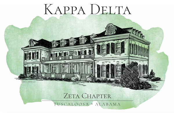 Kappa Delta Watercolor House Shirt