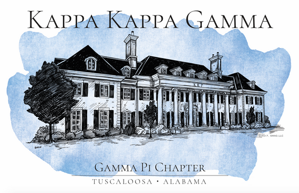 Kappa Kappa Gamma Watercolor House Shirt