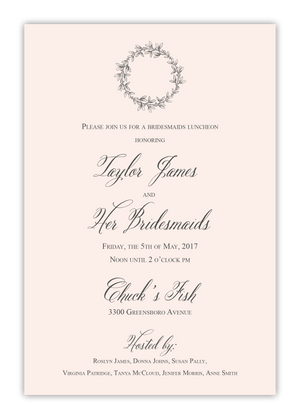 Wreath Bridesmaid Invitation