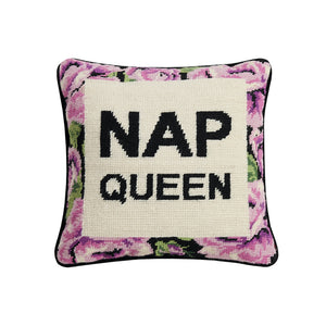 Nap Queen Needlepoint Pillow