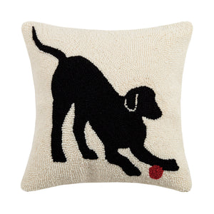 Playful Dog Needlepoint Pillow