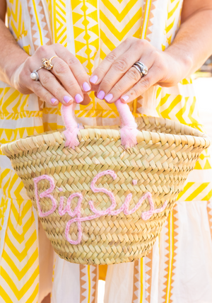Pre-Order: Monogrammed Mini Tote Bag - Light Pink
