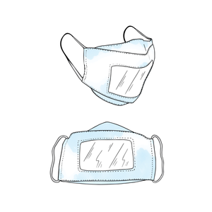 Fashion Face Mask with Clear Window