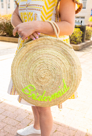 Pre-Order: Personalized Round Tote Bag - Yellow