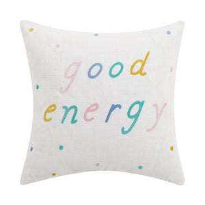 Good Energy Embroidered Pillow