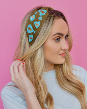 Abstract Leopard Headband