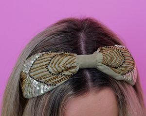 Bead & Sequin Multi Row Headband