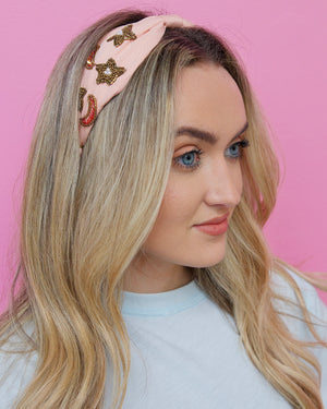 Moon & Stars Beaded Headband