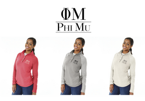 Phi Mu Embroidered Henley