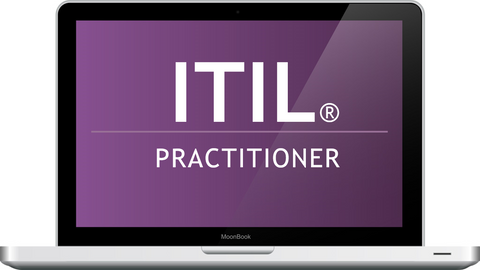 ITIL Practitioner Webinar Laptop
