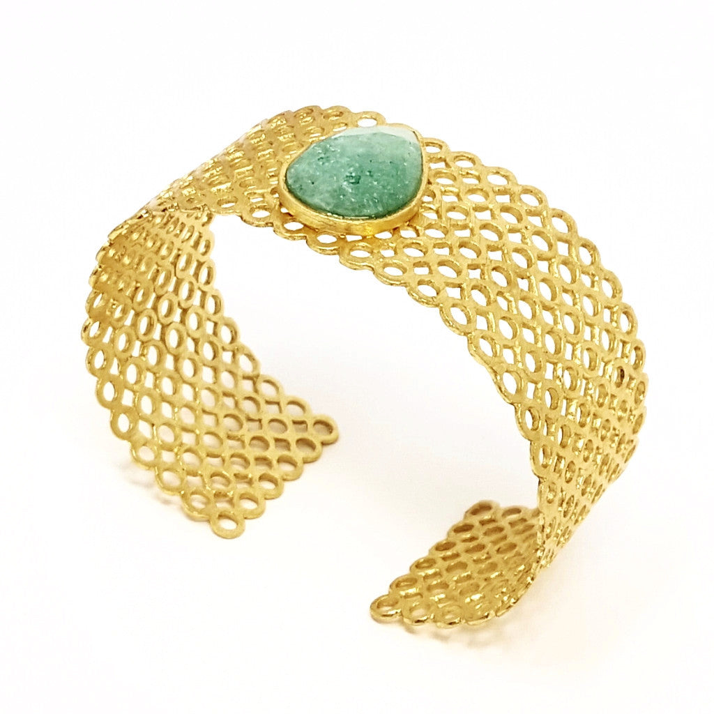 Cuff With Teardrop Stone - SARAJANEaccessories - 2