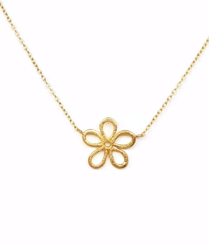 Gold Flower Power Necklace - SARAJANEaccessories