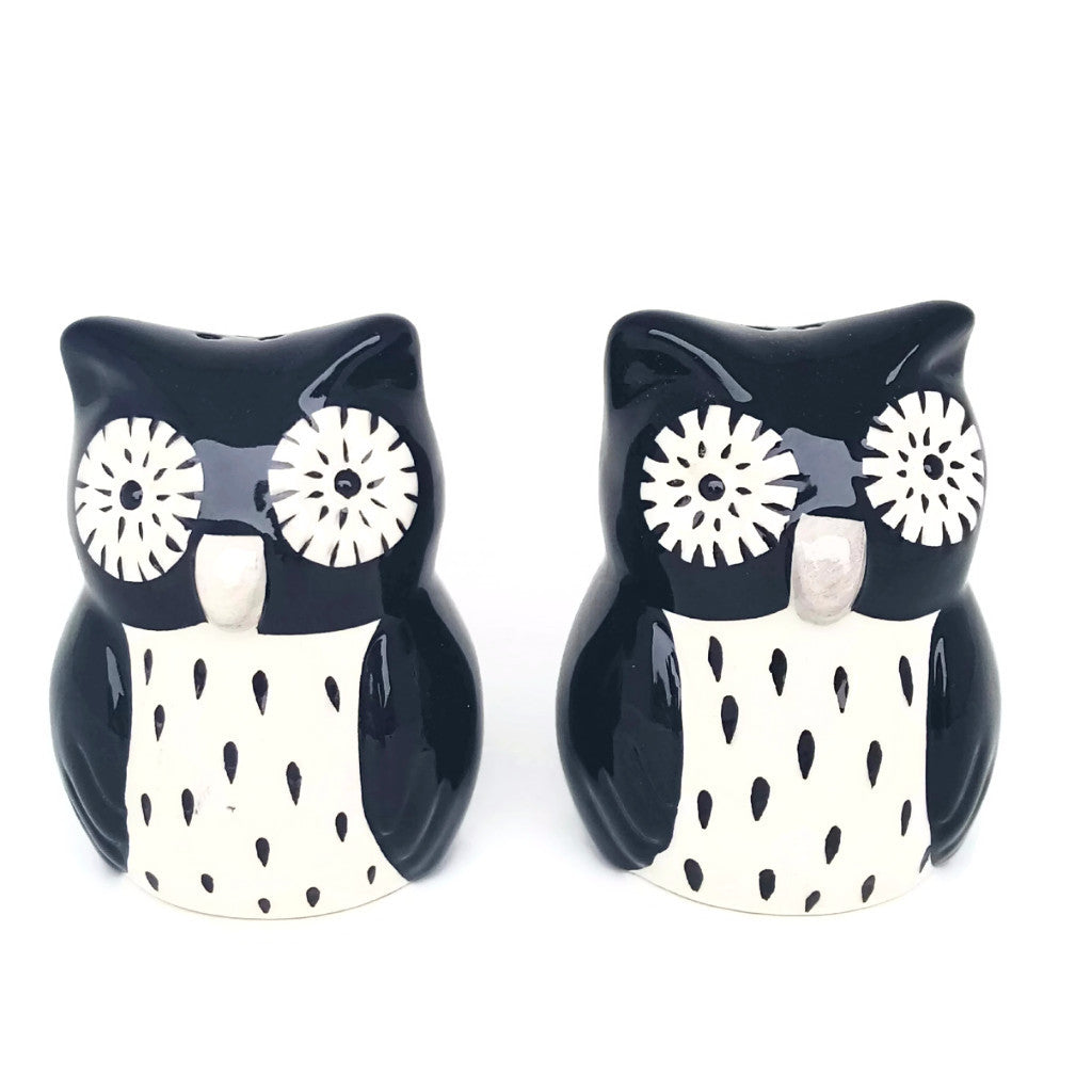 Owl Salt/Pepper Set - SARAJANEaccessories