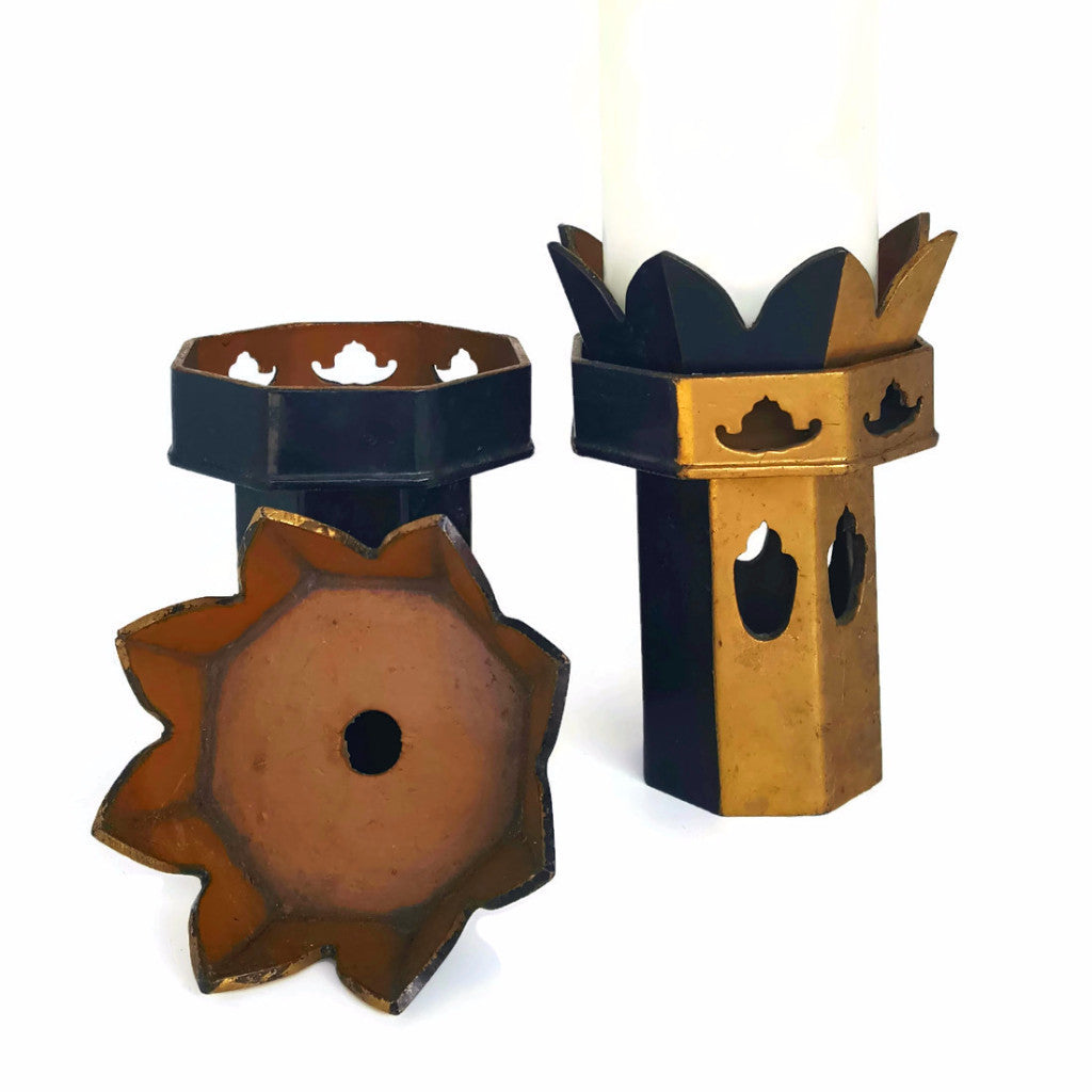 Vintage Buddhist Temple Candle Holders - SARAJANEaccessories