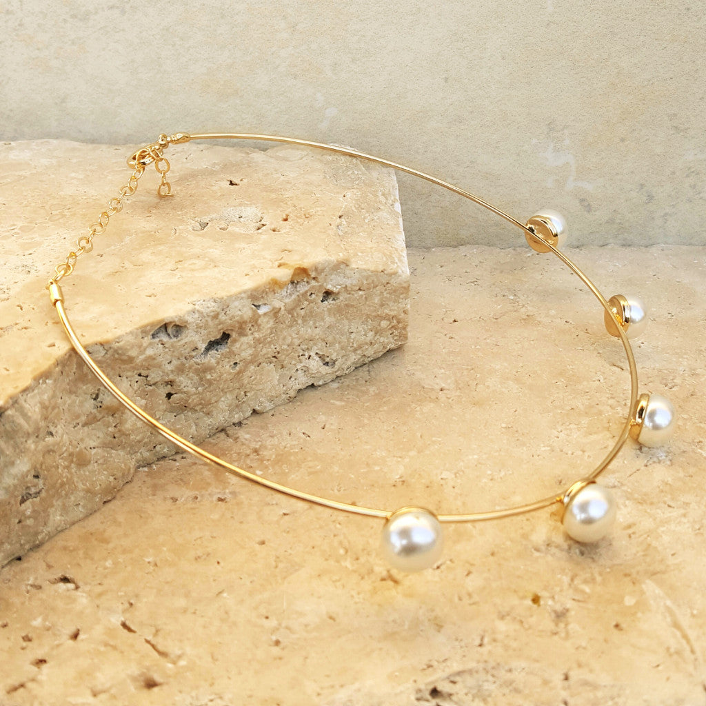 Pearls on Gold Wire - SARAJANEaccessories