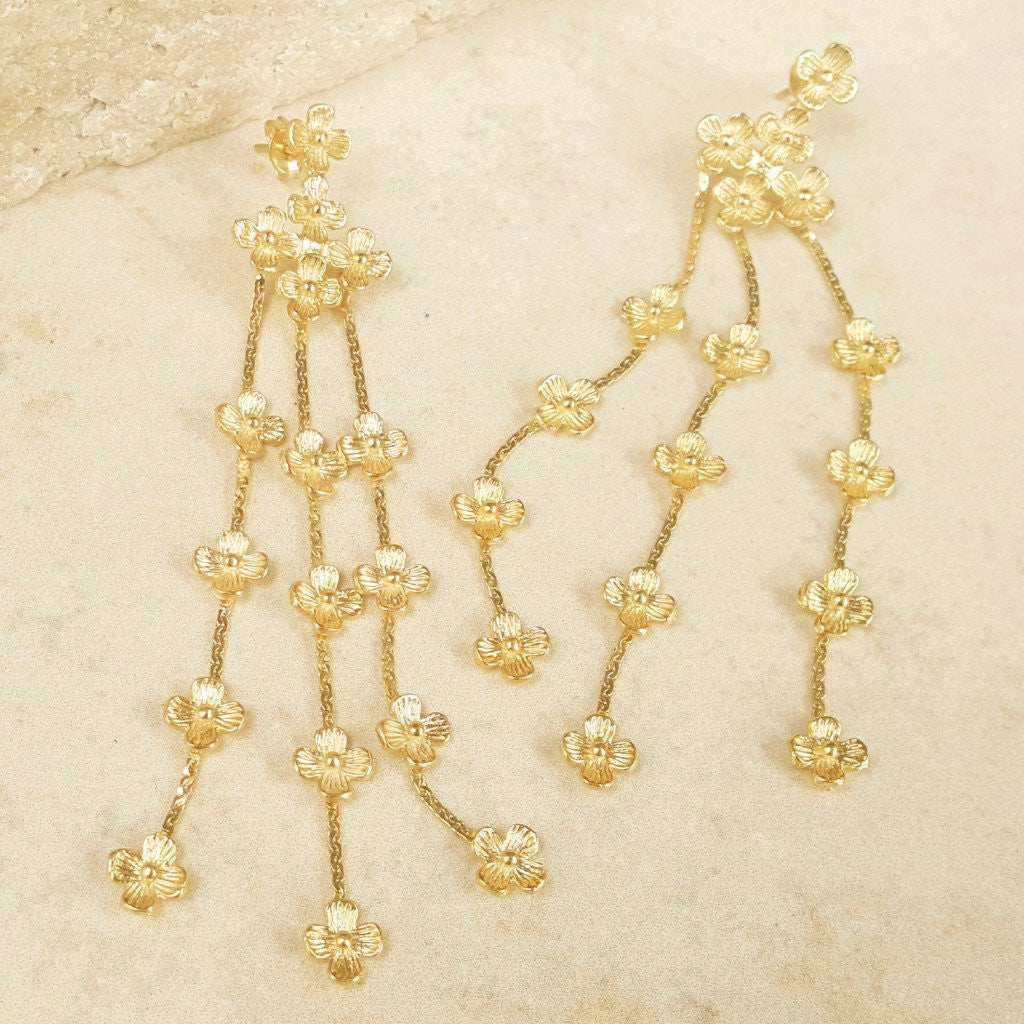Gold Daisy Earring - SARAJANEaccessories