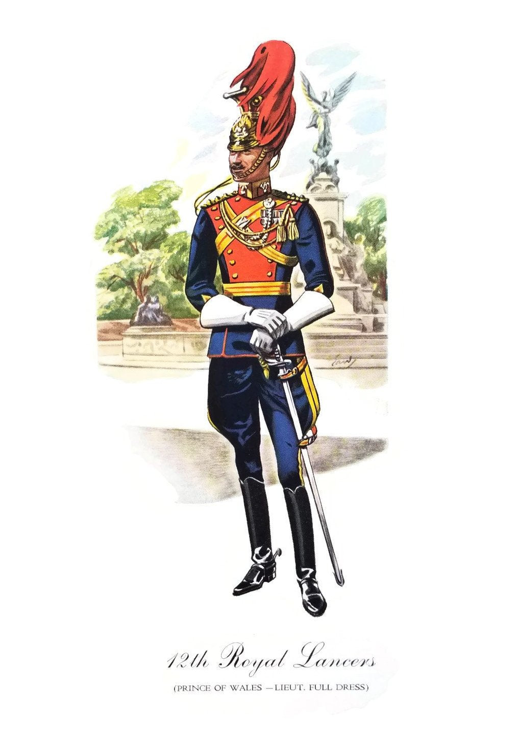 Vintage Military Print-12th Royal Lancers - SARAJANEaccessories