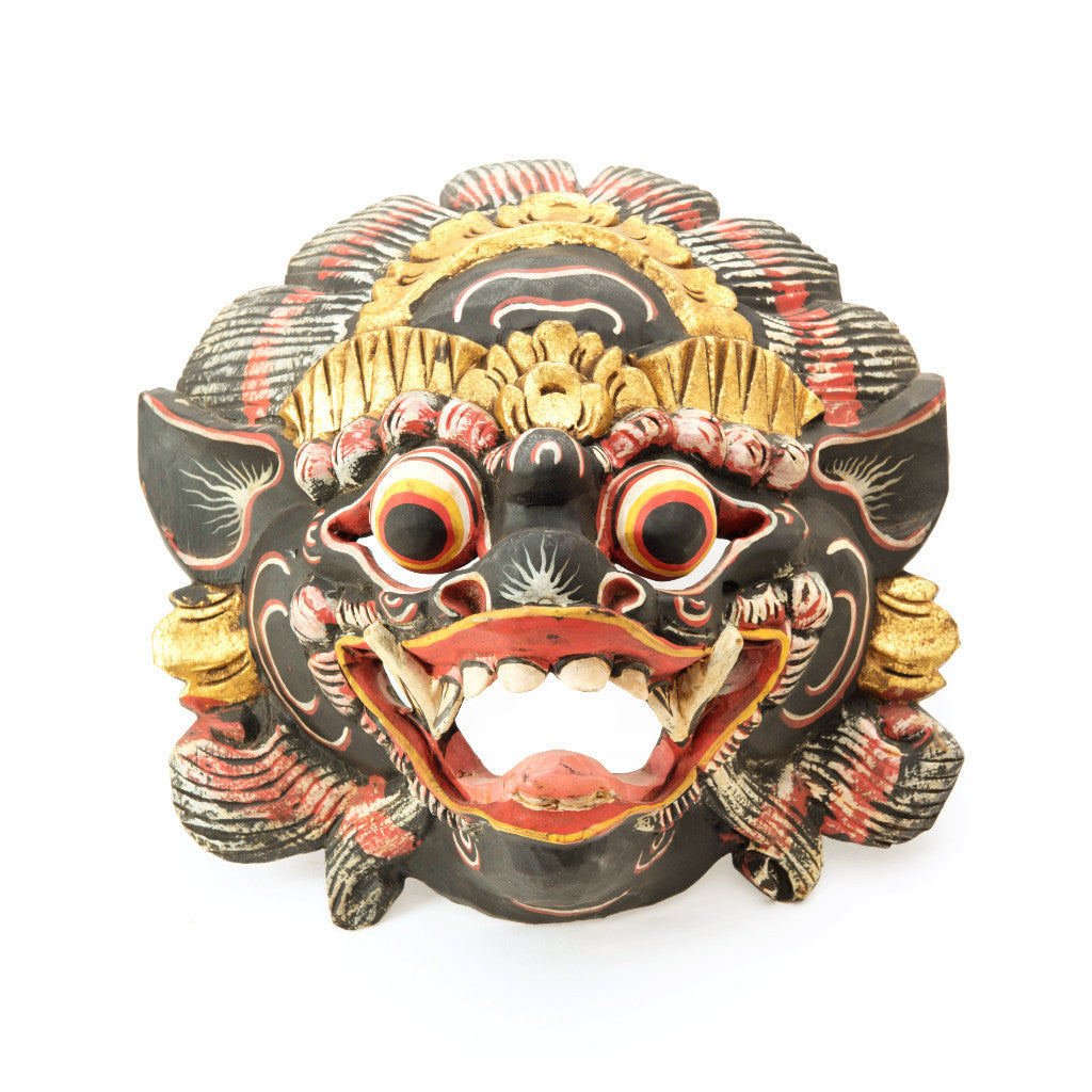 Wooden Balinese Mask - SARAJANEaccessories