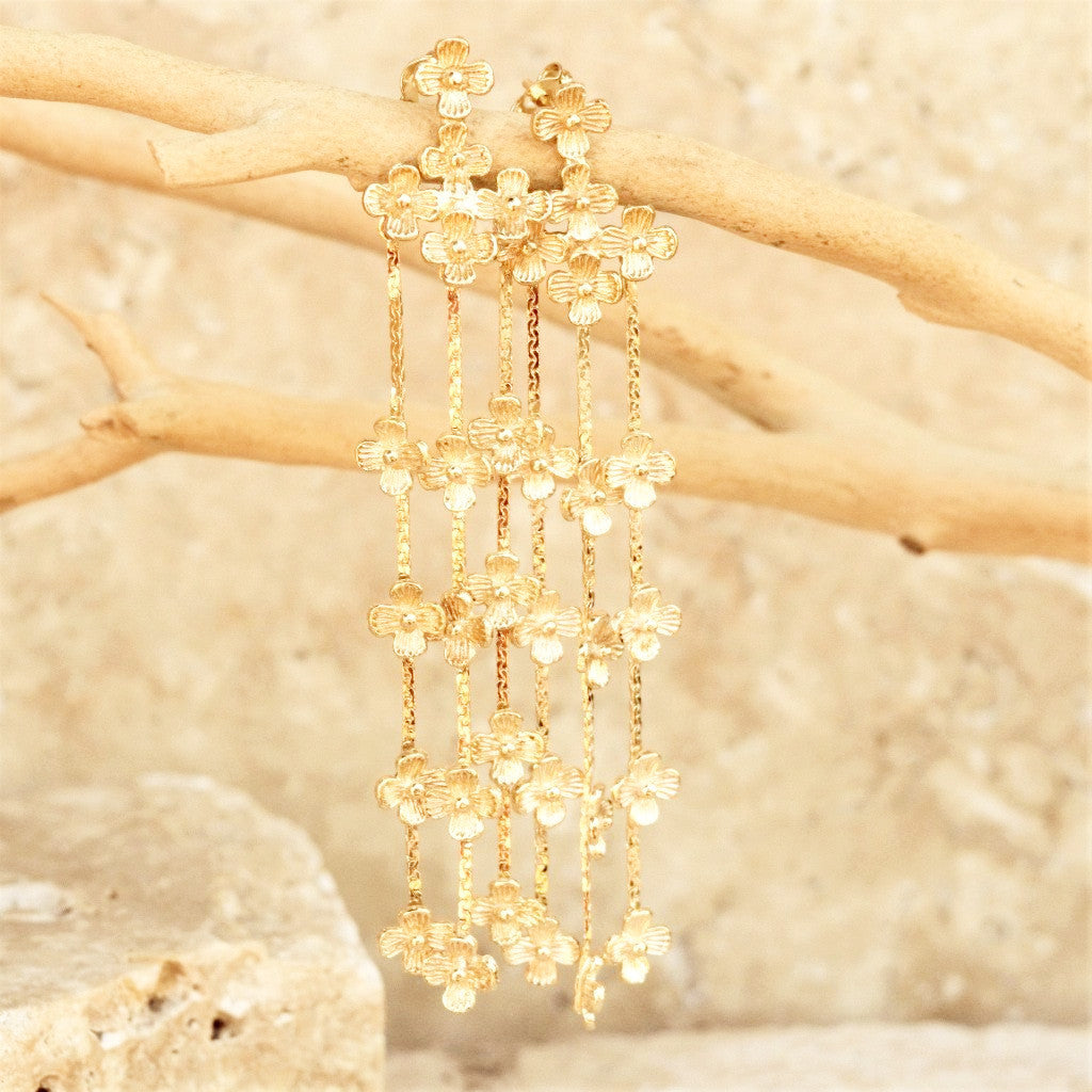 Gold Daisy Earring - SARAJANEaccessories - 1