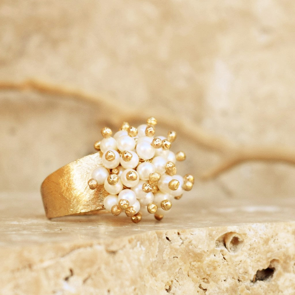 Pearl Cluster Ring - SARAJANEaccessories - 1