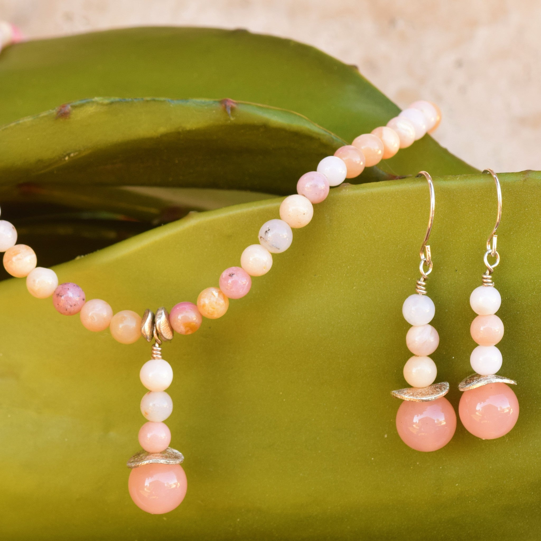 Pink Stone Necklace - SARAJANEaccessories