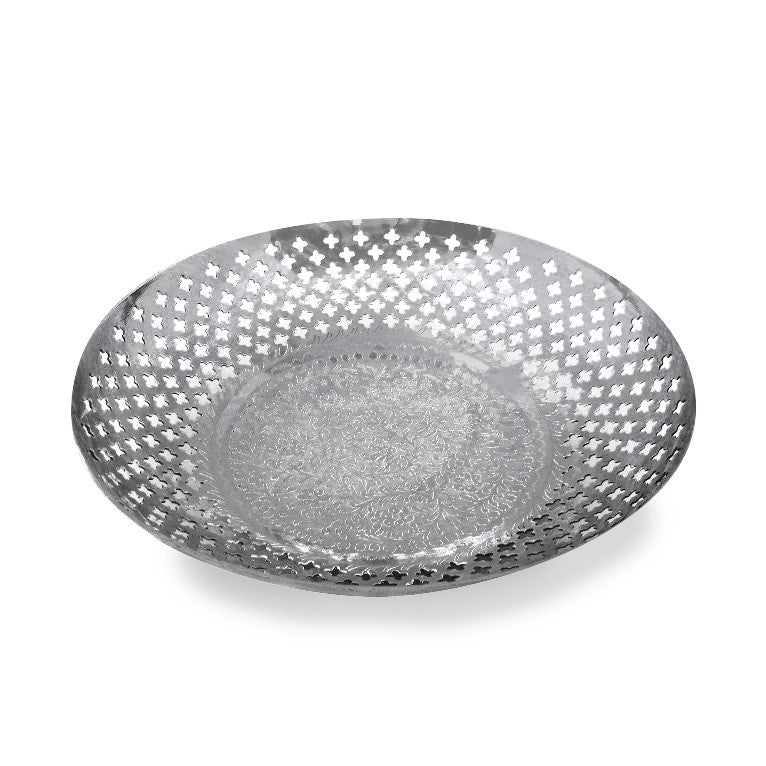 Silver Bowl With Pierced Detail - SARAJANEaccessories - 1