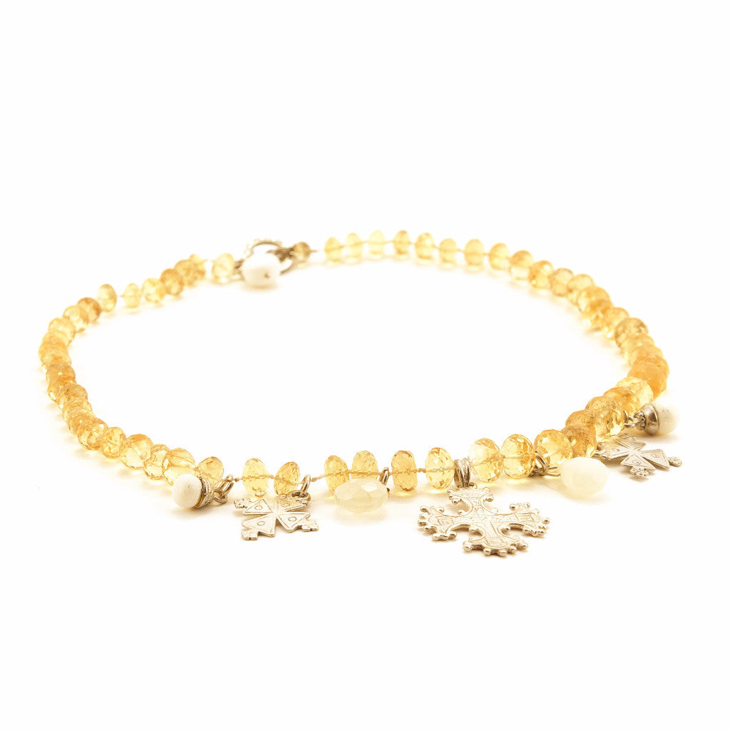 Citrine And Silver Choker - SARAJANEaccessories