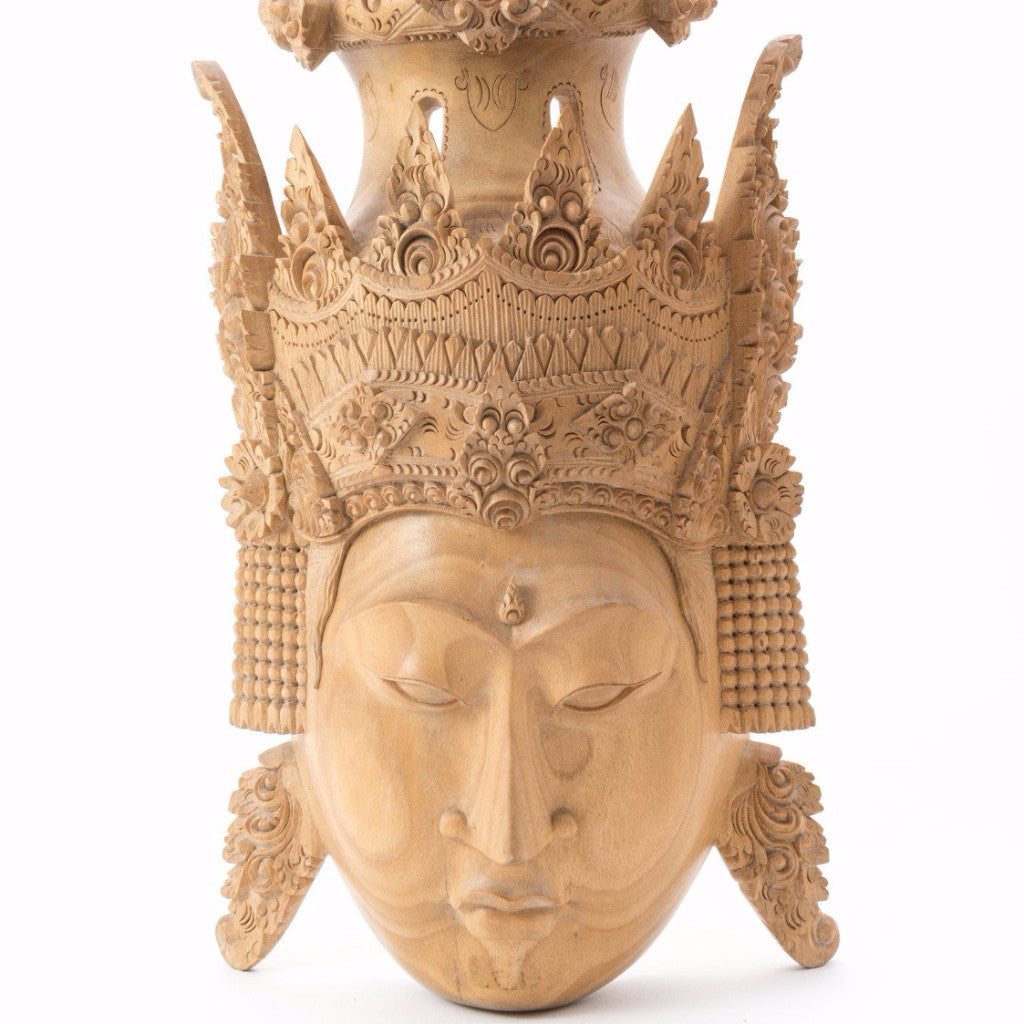 Carved Indonesian Mask - SARAJANEaccessories