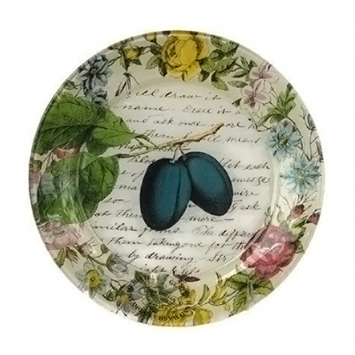Decorative Plate With Fruit And Flowers - SARAJANEaccessories