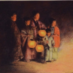 Etching Of Japanese Family - SARAJANEaccessories - 2