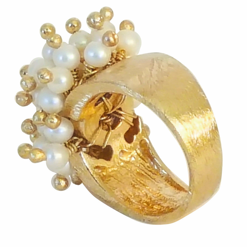 Pearl Cluster Ring - SARAJANEaccessories - 3