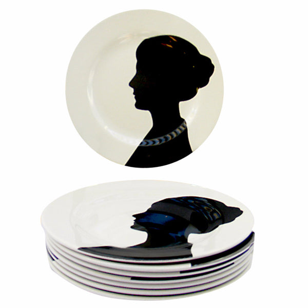 Silouette Plates-Set of Four - SARAJANEaccessories