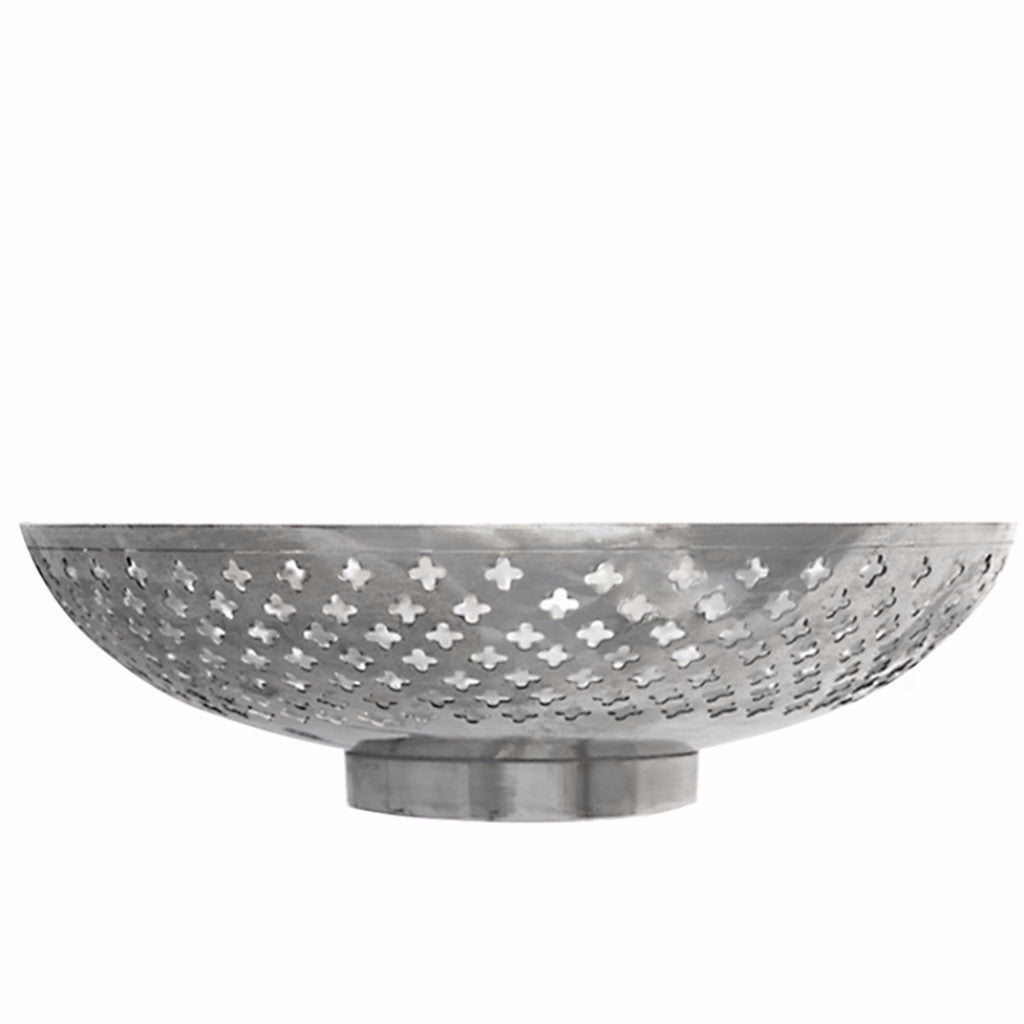 Silver Bowl With Pierced Detail - SARAJANEaccessories - 2
