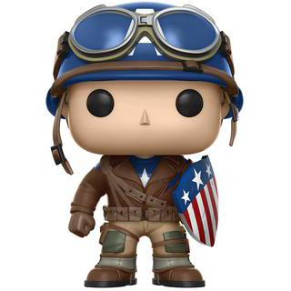 Funko Pop! Emerald City Comic Con WWII Captain America ECCC Exclusive Vinyl Figure