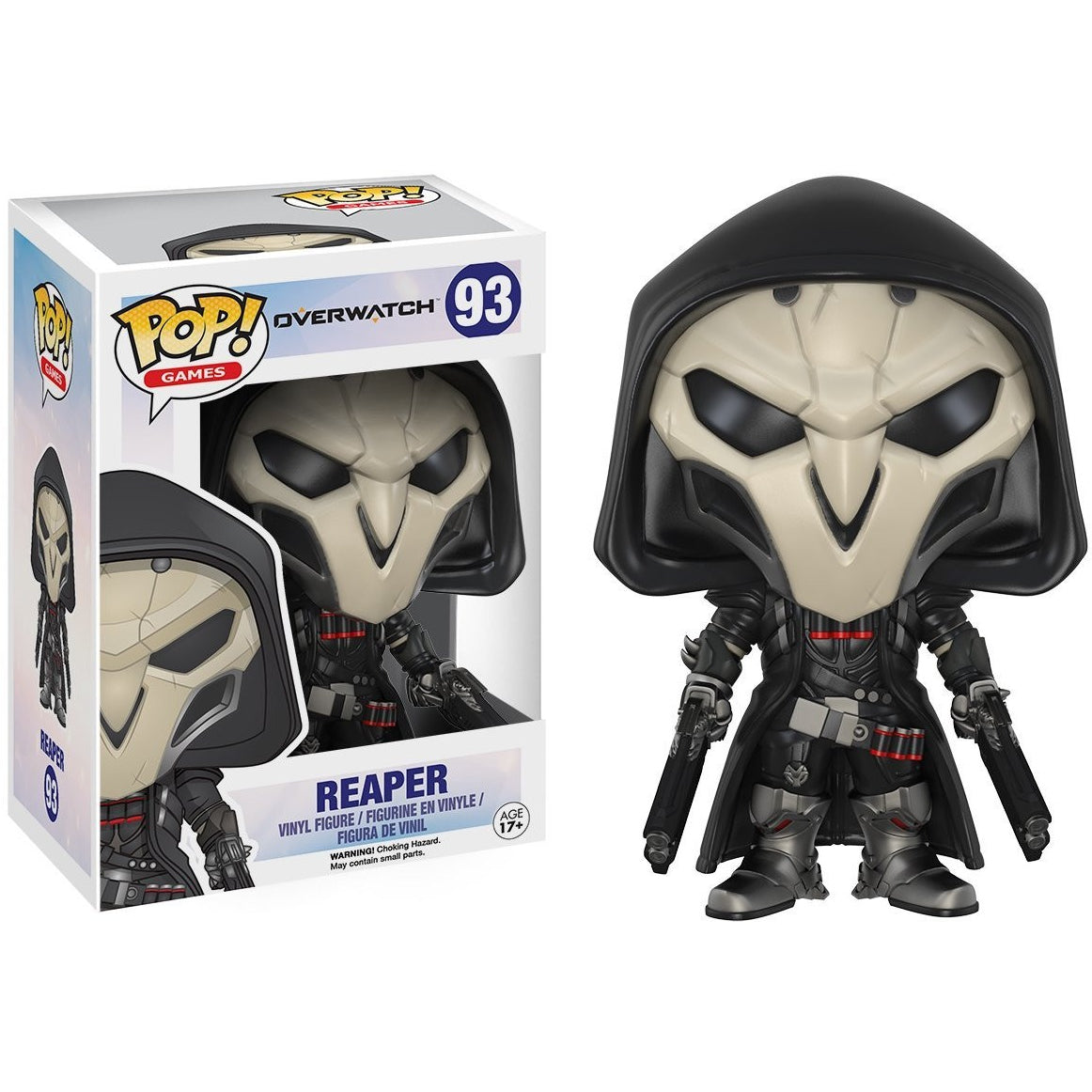 Funko Pop! Games: Overwatch Action Figure - Reaper with box protector!