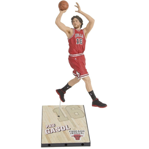 McFarlane Toys NBA Series 27 Pau Gasol (Red) Action Figure - ToyThug