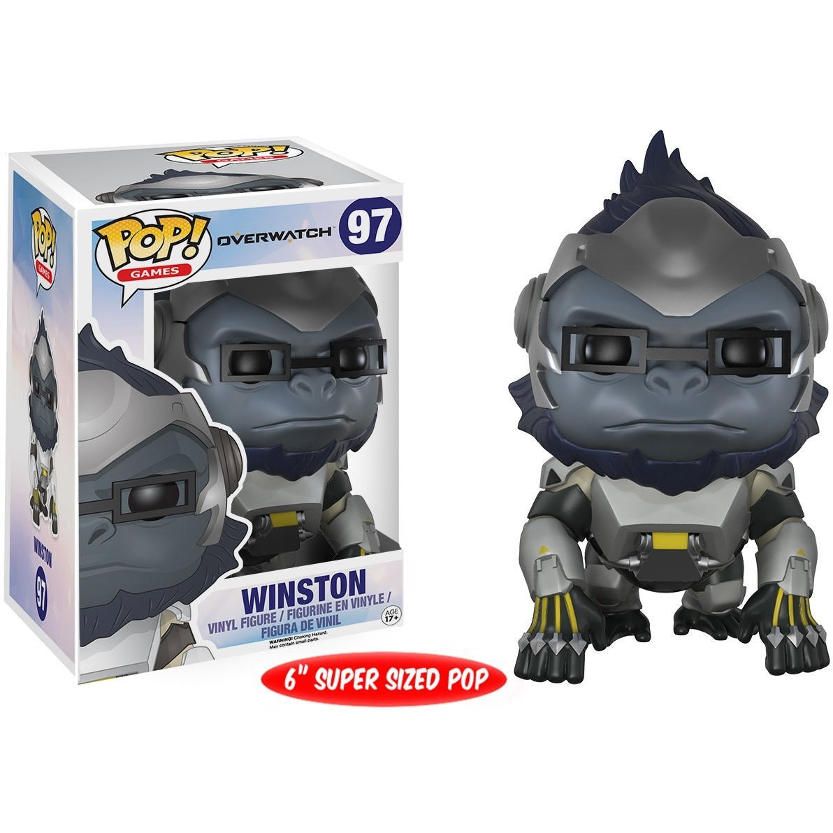 Funko Pop! Games: Overwatch Action Figure - Winston with box protector!