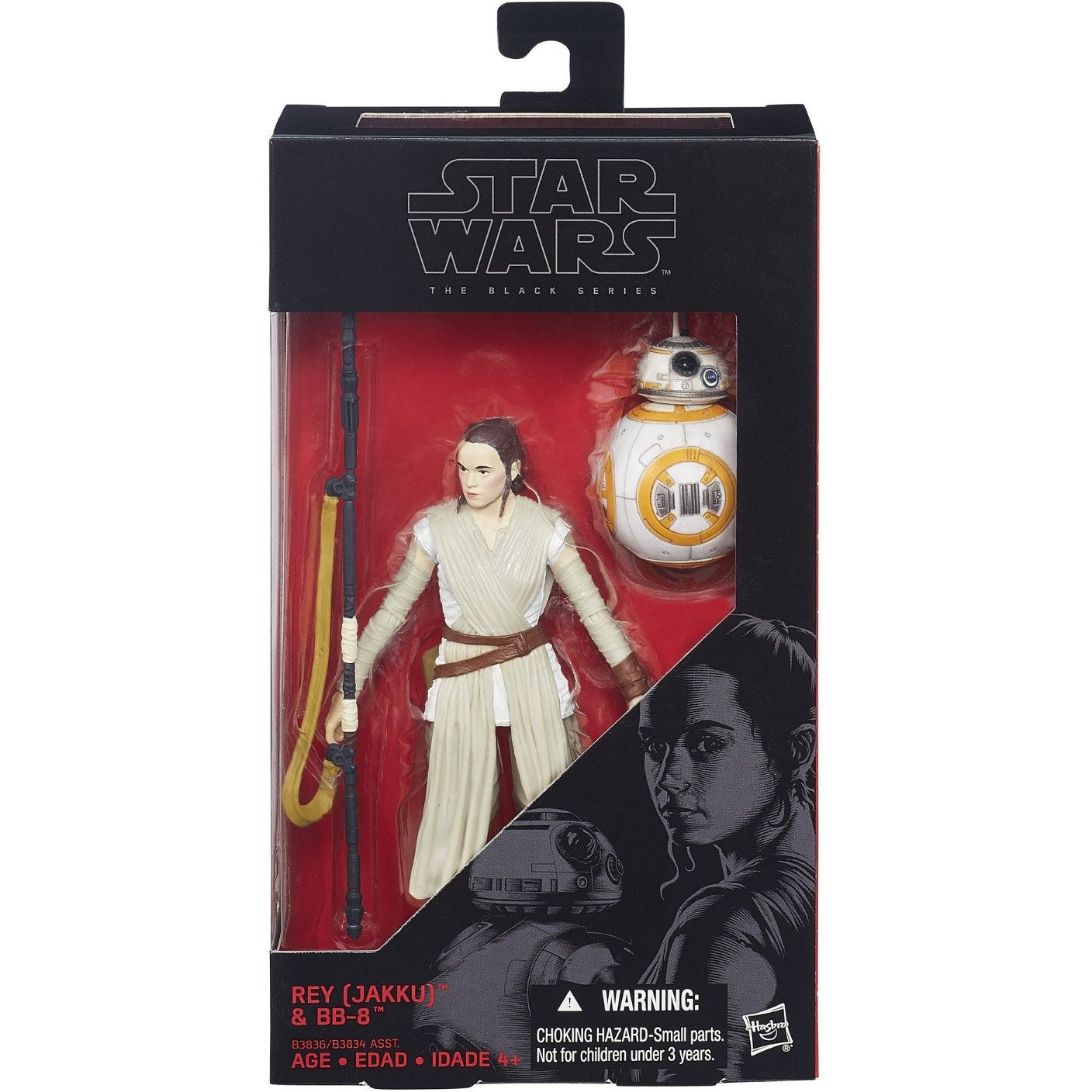 Star Wars The Black Series 6-Inch Rey (Jakku) and BB-8 - ToyThug
