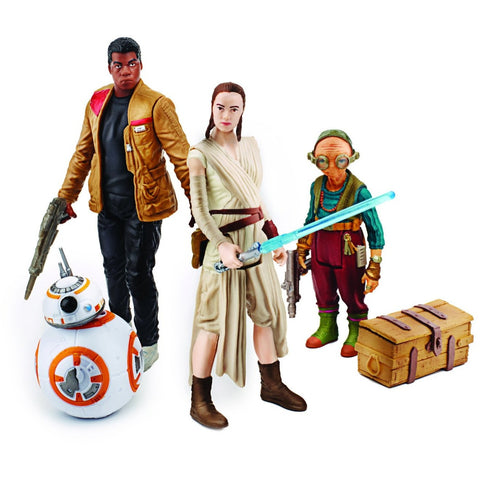 Star Wars: The Force Awakens, Takodana Encounter 3.75 Inch Action Figure Set [Maz Kanata, Finn, Rey, and BB-8] - ToyThug