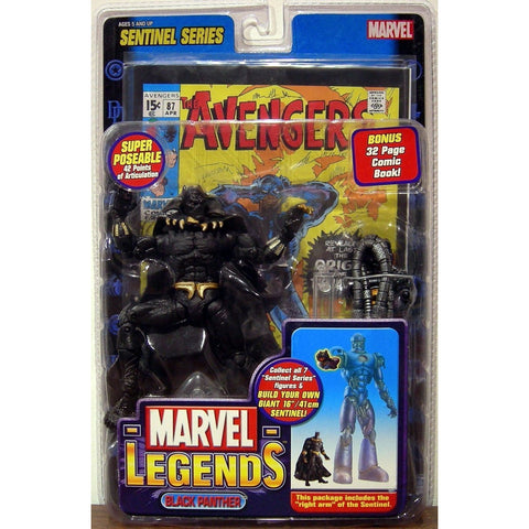 Marvel Legends Sentinel Series Figure: Black Panther by Toy Biz - ToyThug