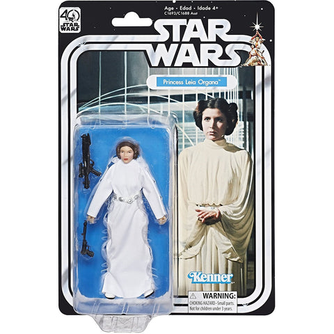 Star Wars The Black Series 40th Anniversary Princess Leia Organa 6 Inch Figure