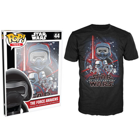 Star Wars: Episode VII - The Force Awakens Poster Black Pop! T-Shirt - ToyThug