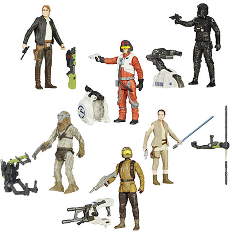 Star Wars: The Force Awakens 3 3/4-Inch Snow and Desert Action Figures Wave 4 Set of 6