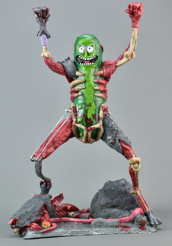 Hand Sculpted & Painted Pickle Rick (Limited 200 Pieces)