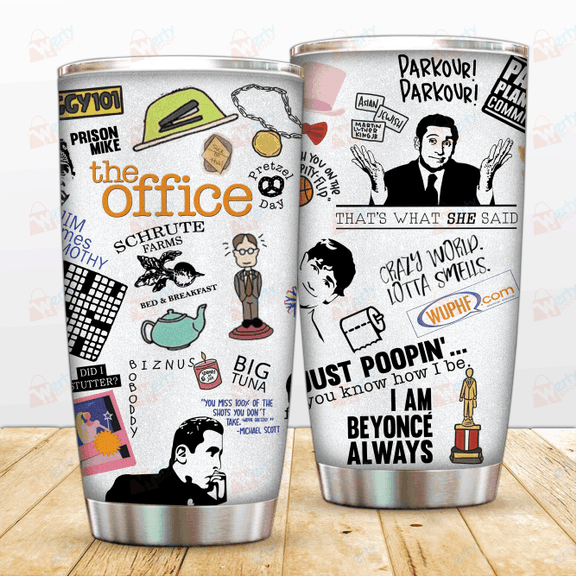 THE OFFICE STAINLESS STEEL TUMBLER