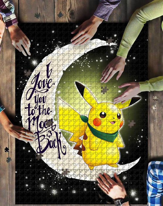 PIKACHU I LOVE YOU TO THE MOON AND BACK JIGSAW PUZZLE