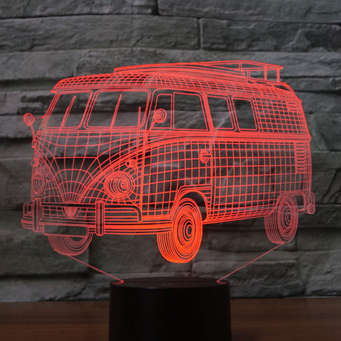 3D Retro Bus LED Light