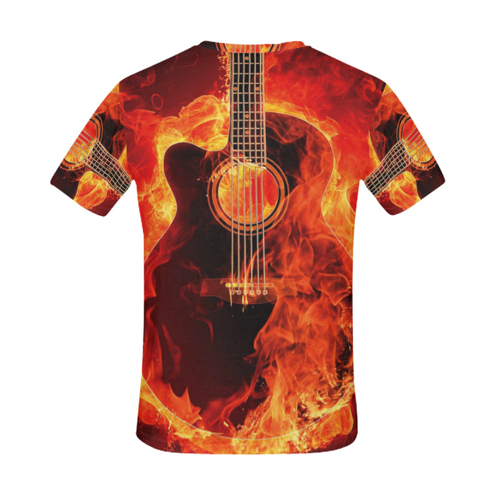 Guitar Fire Art