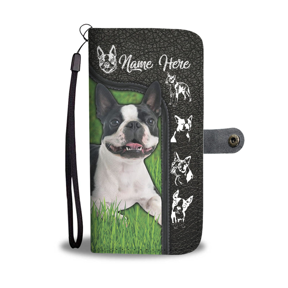 Boston Terrier Customized Phone Case Wallet