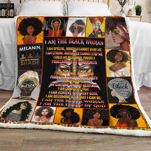I Am The Black Woman - Fleece Blanket
